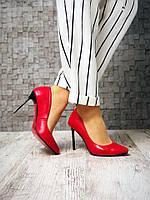 Туфли-лодочки, красный
