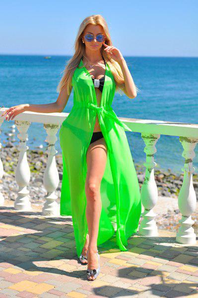 Пляжная туника парео накидки на купальник в пол 42 44 46 48 размер Новинки лето 2019   7 км Одесса