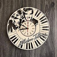 Бесшумные настенные часы из дерева «Modern Talking», фото 1