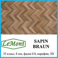 Ламинат износостойкий толщиной 8 мм LeMount Nordik 33 класс, Sapin braun