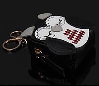 Брелок мини-рюкзачок Сова черный
