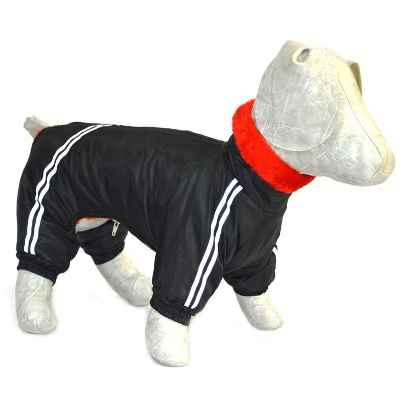 Комбинезон для собак Мех черный