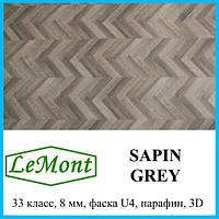 Ламинат в плитках под дерево толщиной 8 мм LeMount Nordik 33 класс, Sapin grey