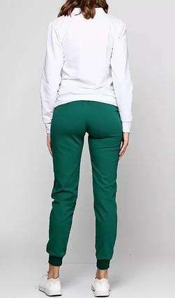 Штаны женские, спортивные, темно зеленые, фото 2