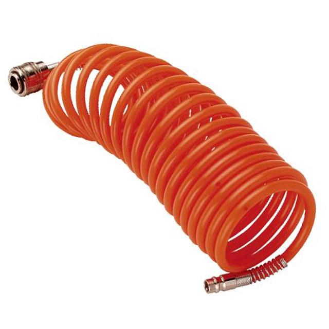Шланг спиральный с быстросъемными соединениями 12*8