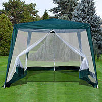 Садовый павильон 3х3 метра с москитной сеткой