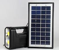 Аккумулятор фонарь с солнечной батареей GD8038, солнечная зарядка для телефона и фонаря