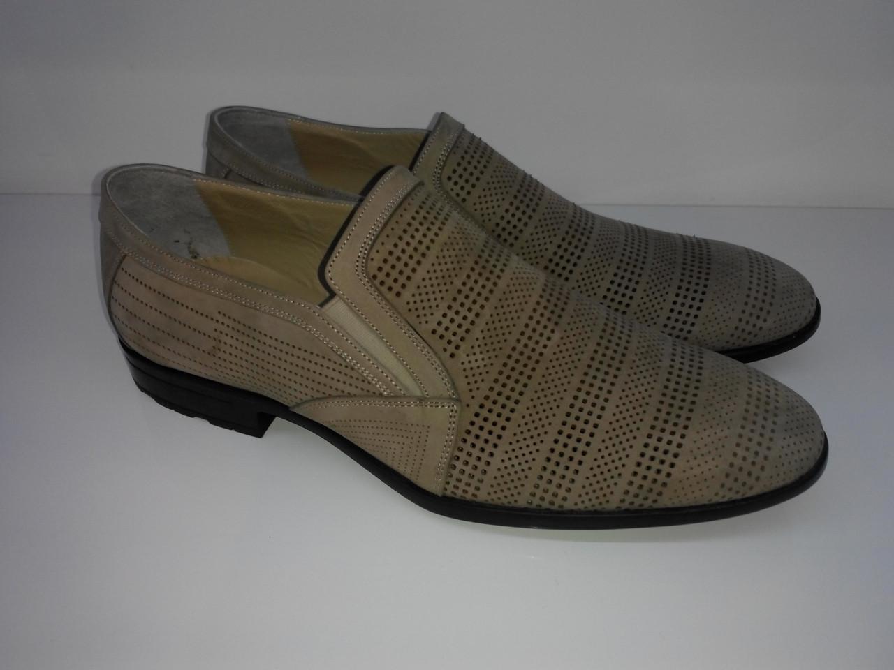 Туфлі Etor 9710-805-755 47 бежеві