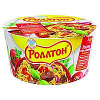 Ролтон Локшина яєчна шв.пригот.яловичина відро 75г