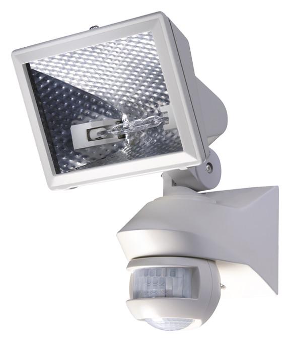 Датчик движения Theben LUXA 102-150/150W с галогенным прожектором, настенный, белый, th 1020961