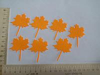 Термо аппликация оранжевый кленовый лист