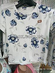 Футболка со значком Fashion Синяя роза (46-50 универсальный)