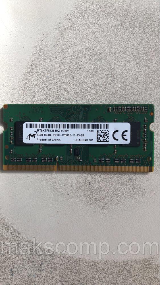Память Micron 4G So-DIMM PC3L-12800S  DDR3-1600 1.35v (MT8KTF51264HZ-1G6P1)