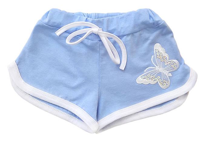 Шорты для девочки Бабочка (голубые), фото 2