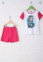 Комплект футболка с оригинальным принтом + шорты, 9-10 лет, (134-140 см). Disney