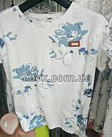 Футболка со значком Fashion Голубая роза (44-46 универсальный)