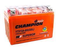Мото аккумулятор Champion 9,5 Ah YTX12A - BS (GEL), фото 1