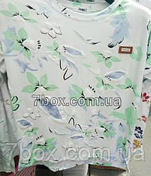 Футболка со значком Fashion Мятные цветы (46-50 универсальный)
