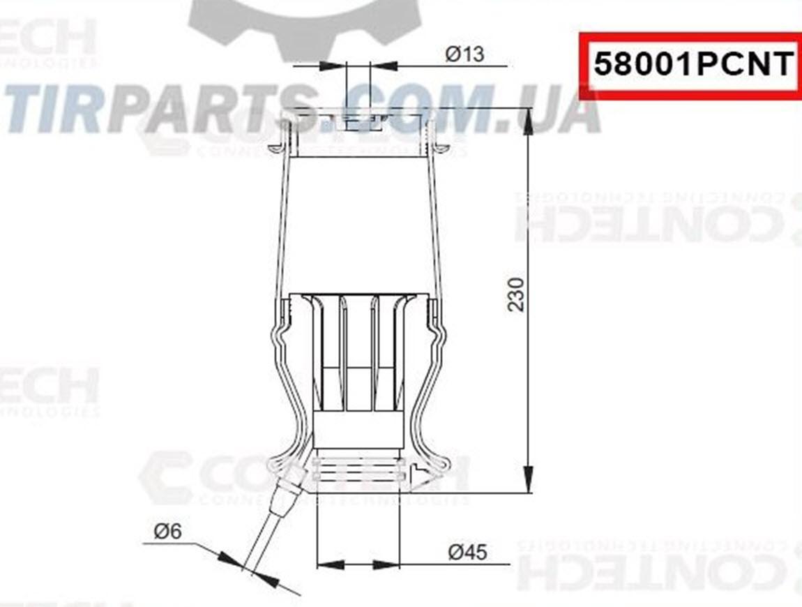 Пневмоподушка амортизатора кабины IVECO STRALIS передний (500357351 | 58001PCNT)