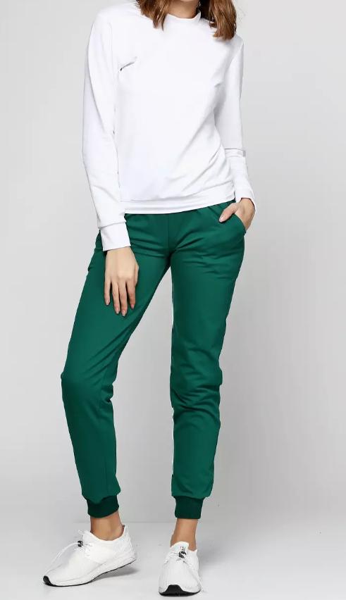 Штаны женские, молодежные, темно зеленые