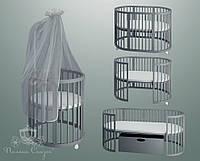 """Круглая кроватка-трансформер """"Smart-bed"""" Gray!, фото 1"""