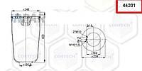 Пневмоподушка VOLVO 2 шпильки-воздух, 4420N, 08428271 (1076076   44201)
