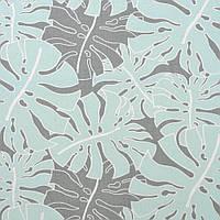 ✁ Отрез хлопковой ткани Пальмовые листья пыльная мята 100х80 см, фото 1