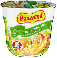 Ролтон Пюре картопляне зі смаком курки стакан 37 г