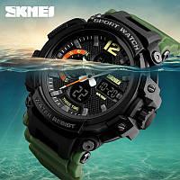 Часы водонепроницаемые 5 АТМ Skmei 1343 Black/Green (Original 100%)., фото 1