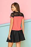 Летний Костюм состоящий из блузы с кокеткой и юбки-клеш 42-48р, фото 2