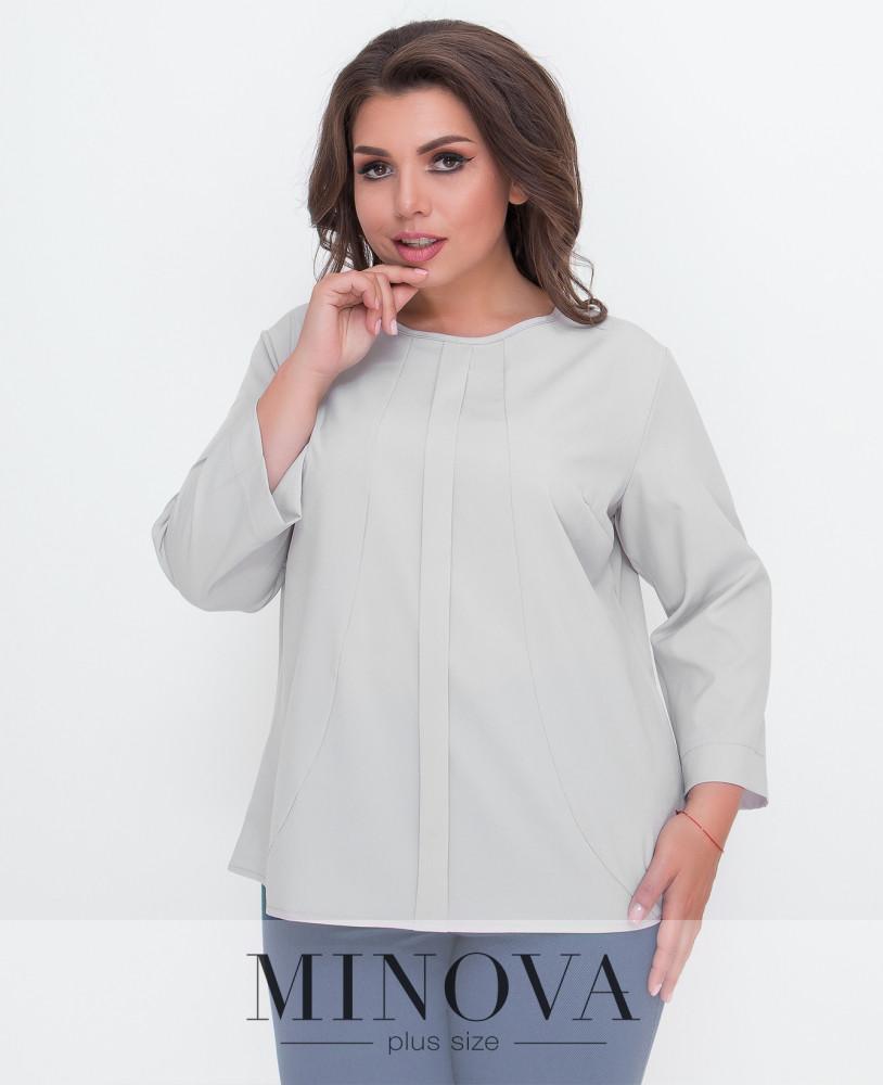 Блуза женская прямого кроя с рукавом ¾