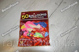 Набор воздушных шариков 25 см 50 шт, цвет разноцветный, фото 2