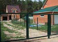 Ворота металлические с ПВХ покрытием