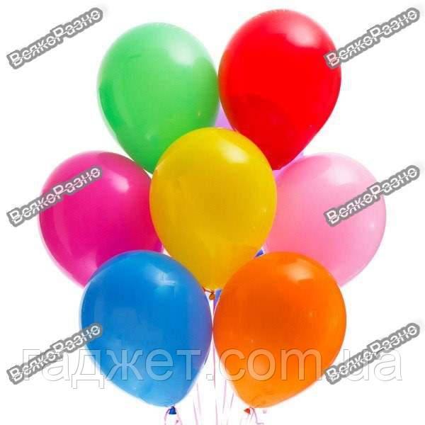 Набор воздушных шариков 25 см 50 шт, цвет разноцветный