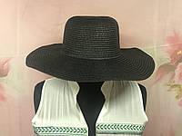 """Шляпа широкополая черная """"Бора-Бора"""""""