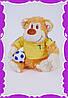 Обезьянка -футболист с шарфом Украина
