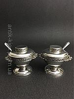 Старинная ваза из серебра 19 век Серебряная ваза 2шт набор для специй сахарница конфетница фруктовница