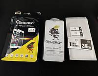 5D full glue защитное стекло для iPhone X / Xs с черными рамками и полной проклейкой