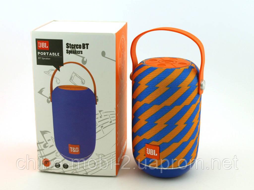 JBL tg107 t&g 5W, портативная колонка с Bluetooth FM MP3, Zap желтая с синим