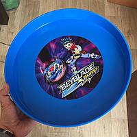 Арена Beyblade Burst Бейблейд для соревнований синяя, большая (диаметр 335 мм)