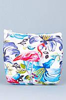 Детский кошелек Фламинго с синими цветами