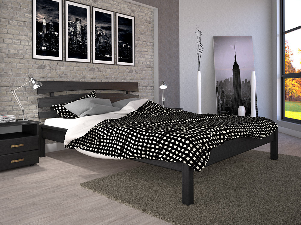 Деревянная кровать Домино-3