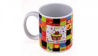 Цветная чашка с терморисунком С Днем рождения 7 видов Порадует своим красочным видом именинника  Код: КГ4929