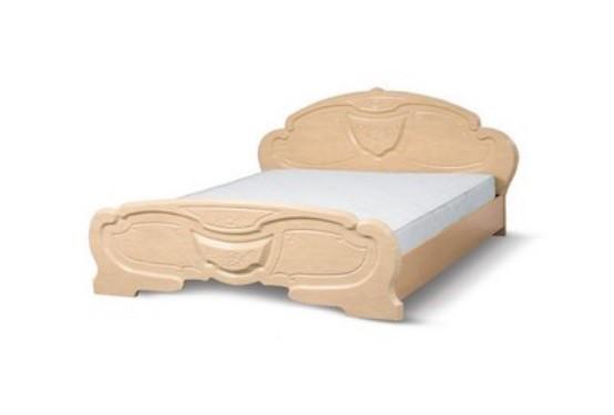 Двухспальная кровать Эмилия (перламутр)