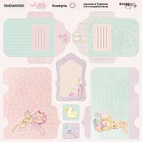 Конвертики Little bunny, Лист двусторонней бумаги (20х20 см)