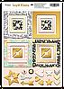 Рамки из чипборда с фольгированием (золото) Simple Flowers, 30 шт