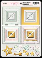 Рамки из чипборда с фольгированием (золото) Little Bunny, 30 шт