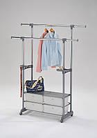 Стойка для одежды метал+пластик 4 ящика W-69