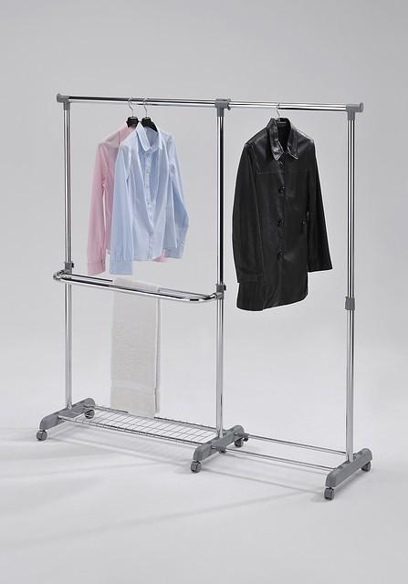 Стойка для одежды (передвижная,телескоп) W-41