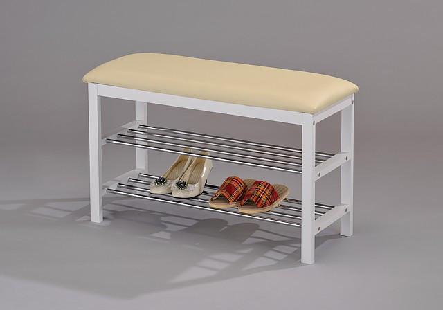 Скамейка для обуви W-38 белый